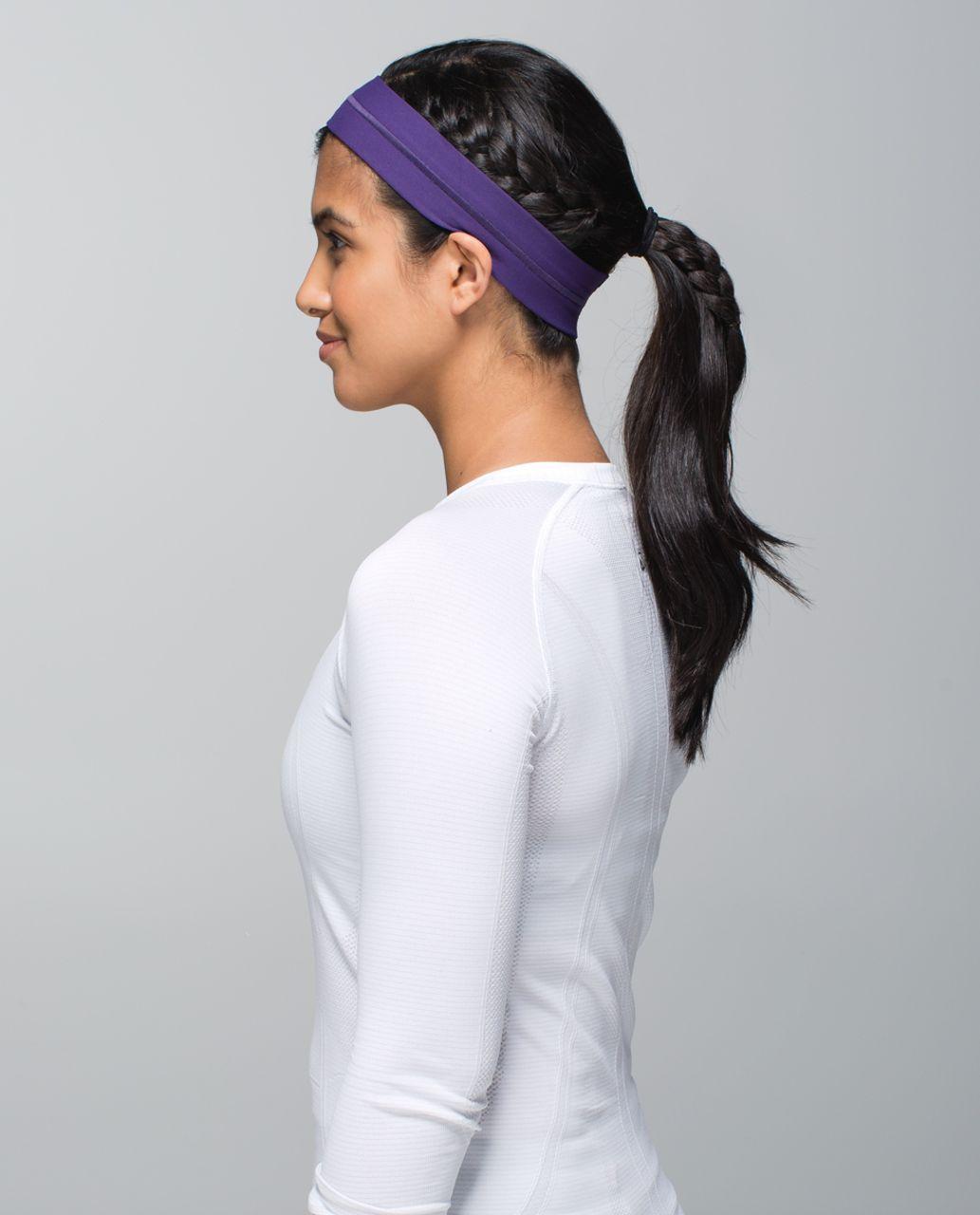Lululemon Fly Away Tamer Headband - Going Grape