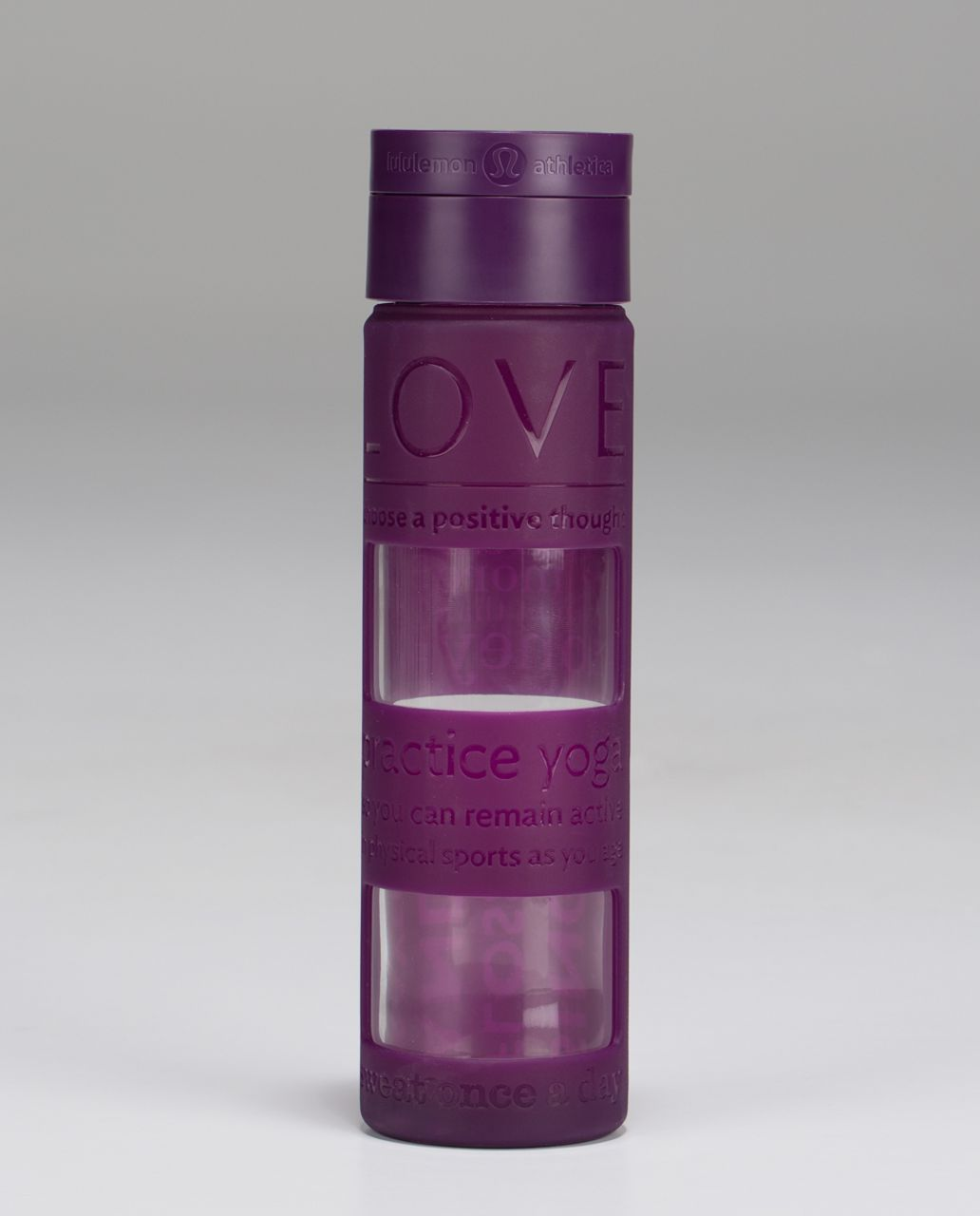 Lululemon Pure Focus Glass Water Bottle - Berry Yum Yum