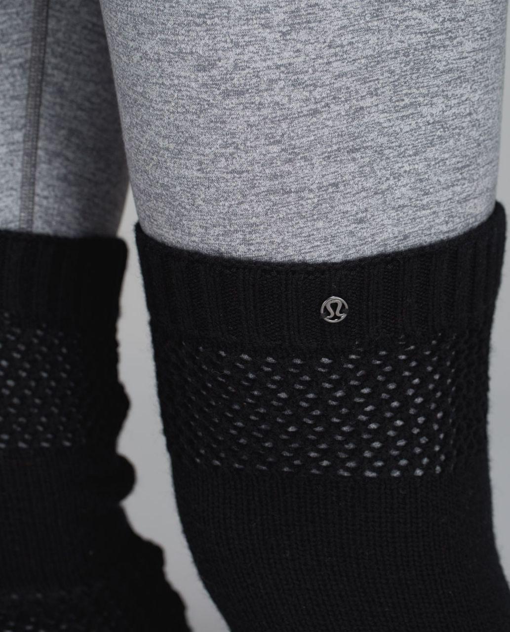 Lululemon Tip To Toe Leg Warmers - Heathered Black