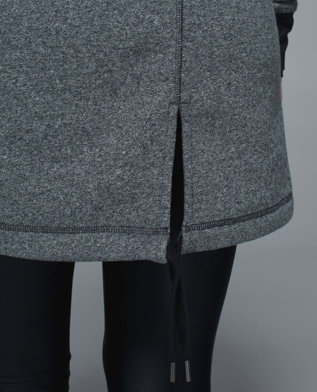 Lululemon Long & Short Of It Jacket - Heathered Speckled Black / Black