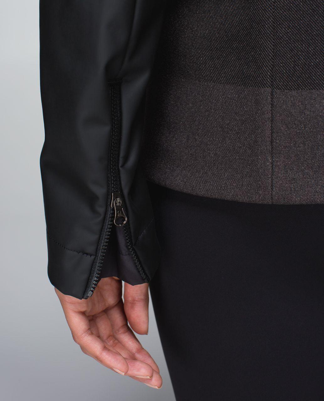 Lululemon Brisky Biker Jacket - Black / Horizontal Stripe Black Soot Light / Black