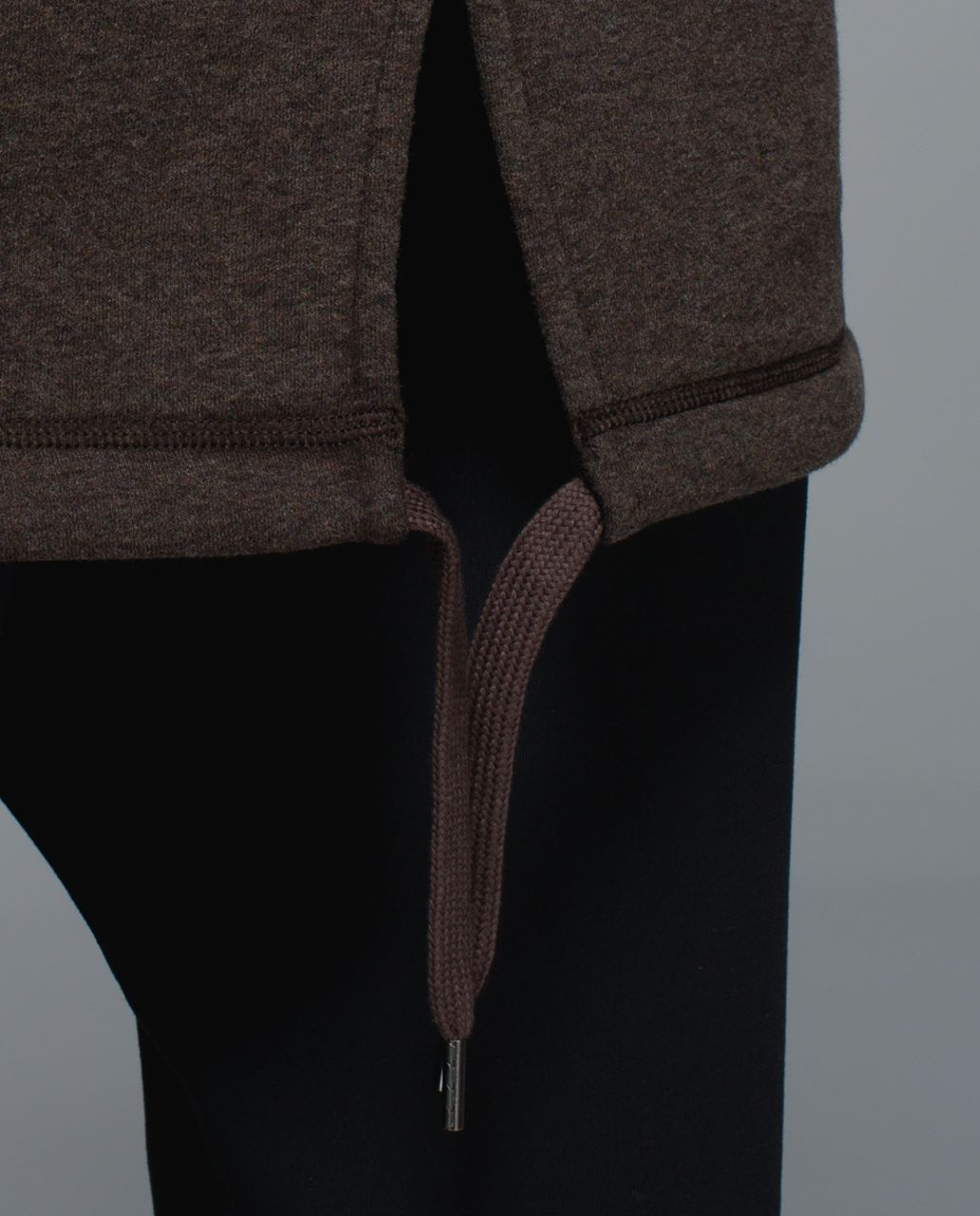 Lululemon Long & Short Of It Jacket - Heathered Bark Chocolate / Bark Chocolate