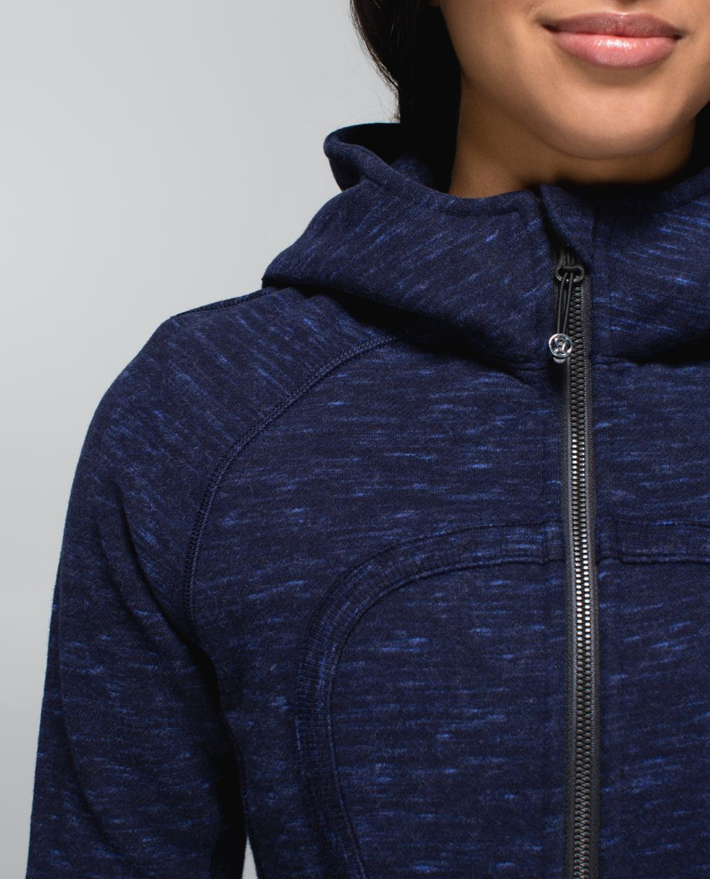Lululemon Scuba Hoodie II - Heathered Marled Black Grape / Black