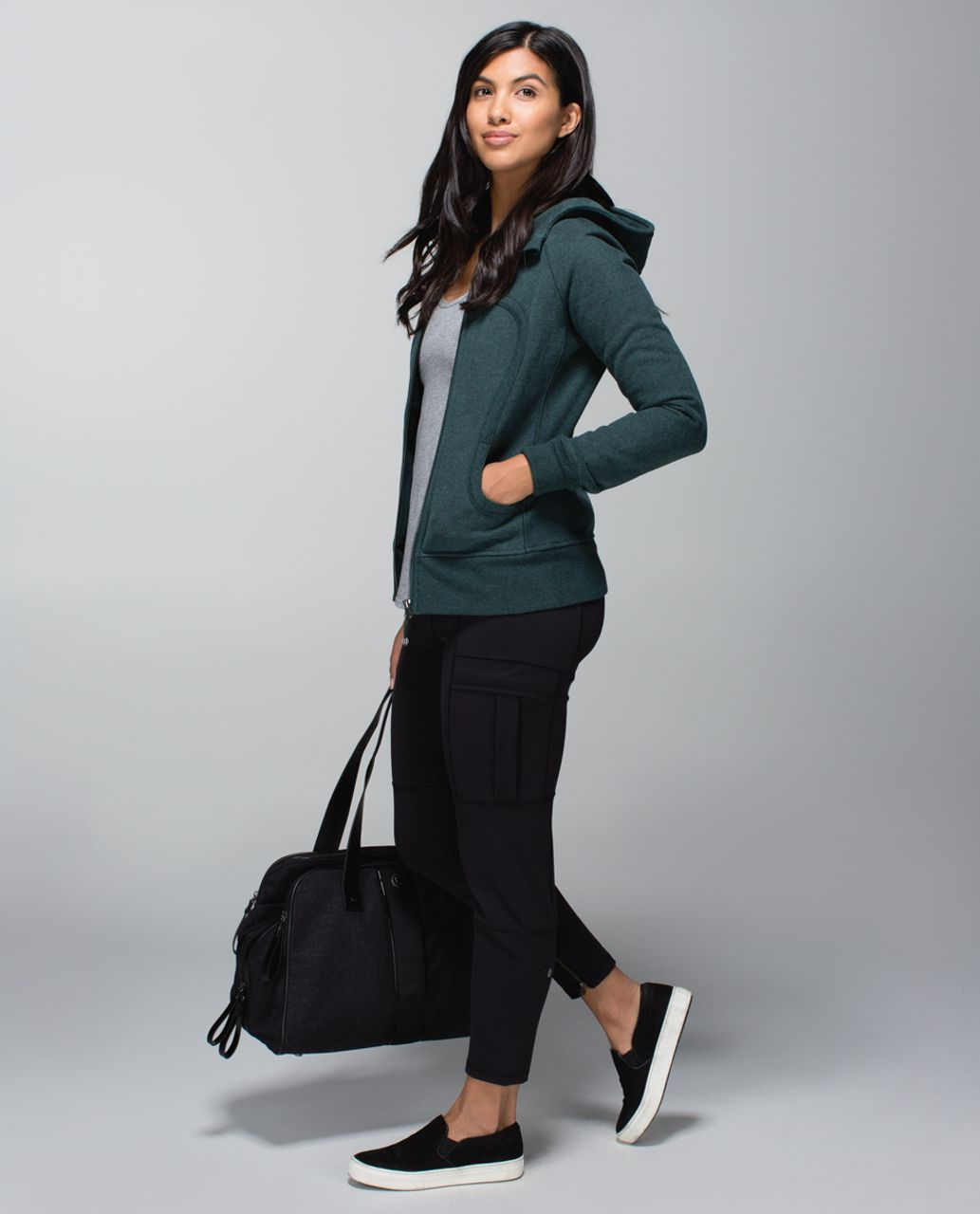 Lululemon Scuba Hoodie II - Heathered Fuel Green / Fuel Green