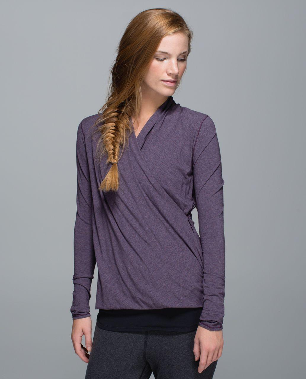 Lululemon Radiant Long Sleeve - Heathered Purple Fog