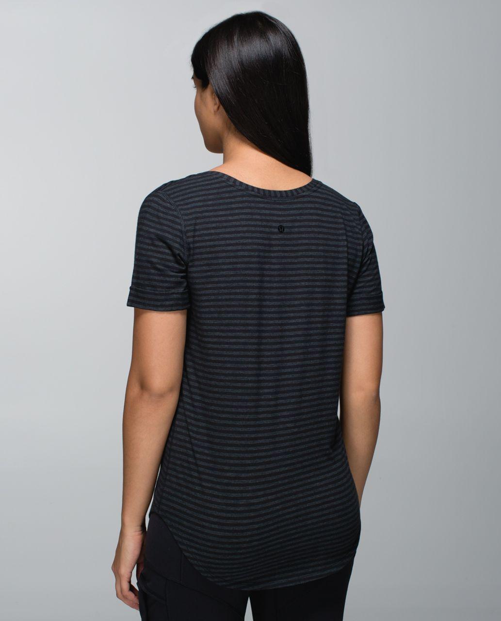 Lululemon Love Tee - Classic Stripe Heathered Black Black