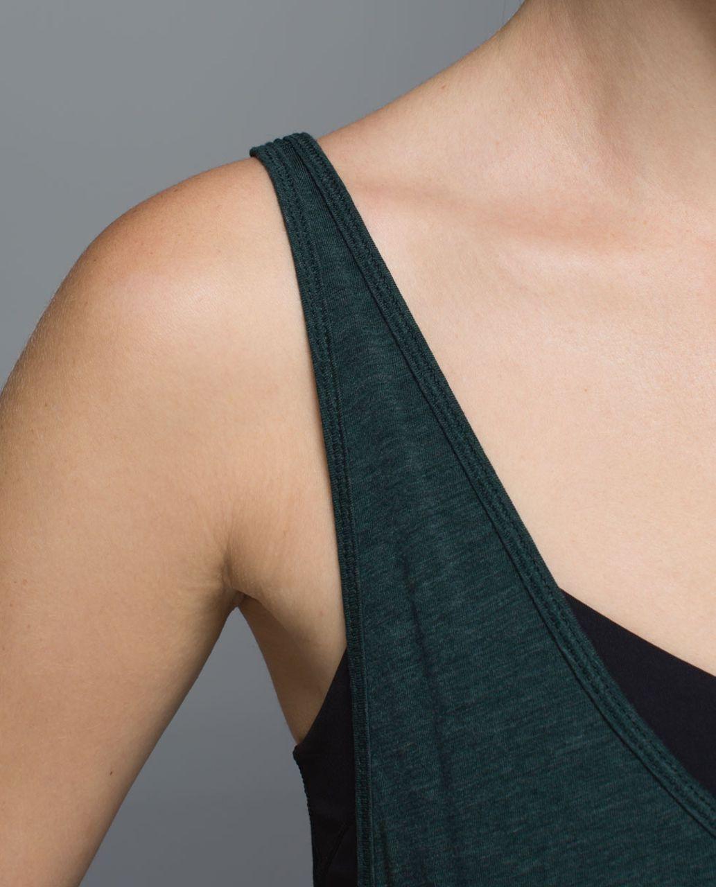 Lululemon Twist & Turn Tank - Heathered Fuel Green / Black