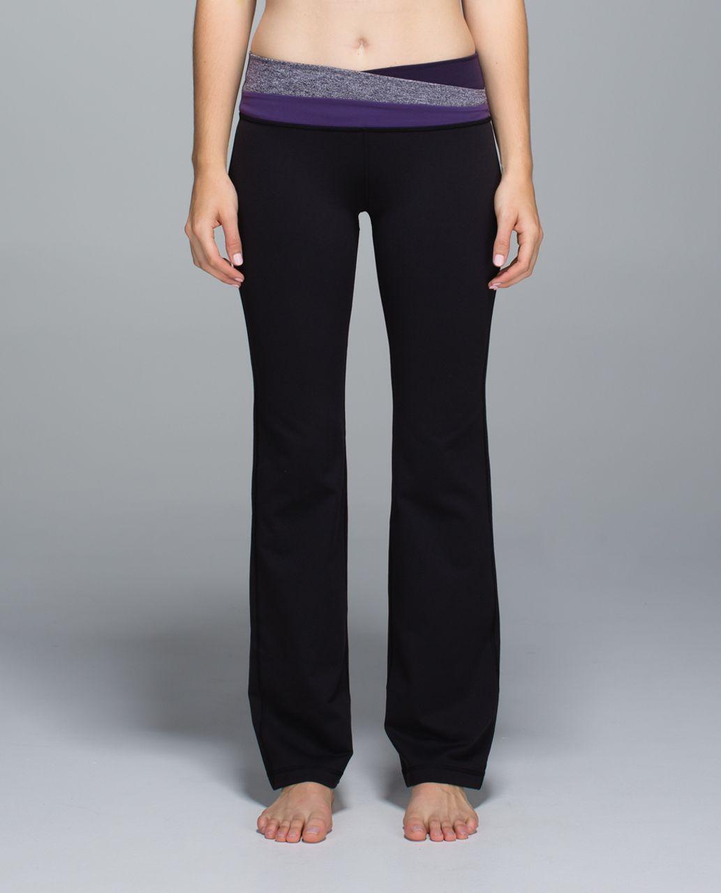 Lululemon Astro Pant *Full-On Luon (Regular) - Black / Heathered Black Grape / Going Grape