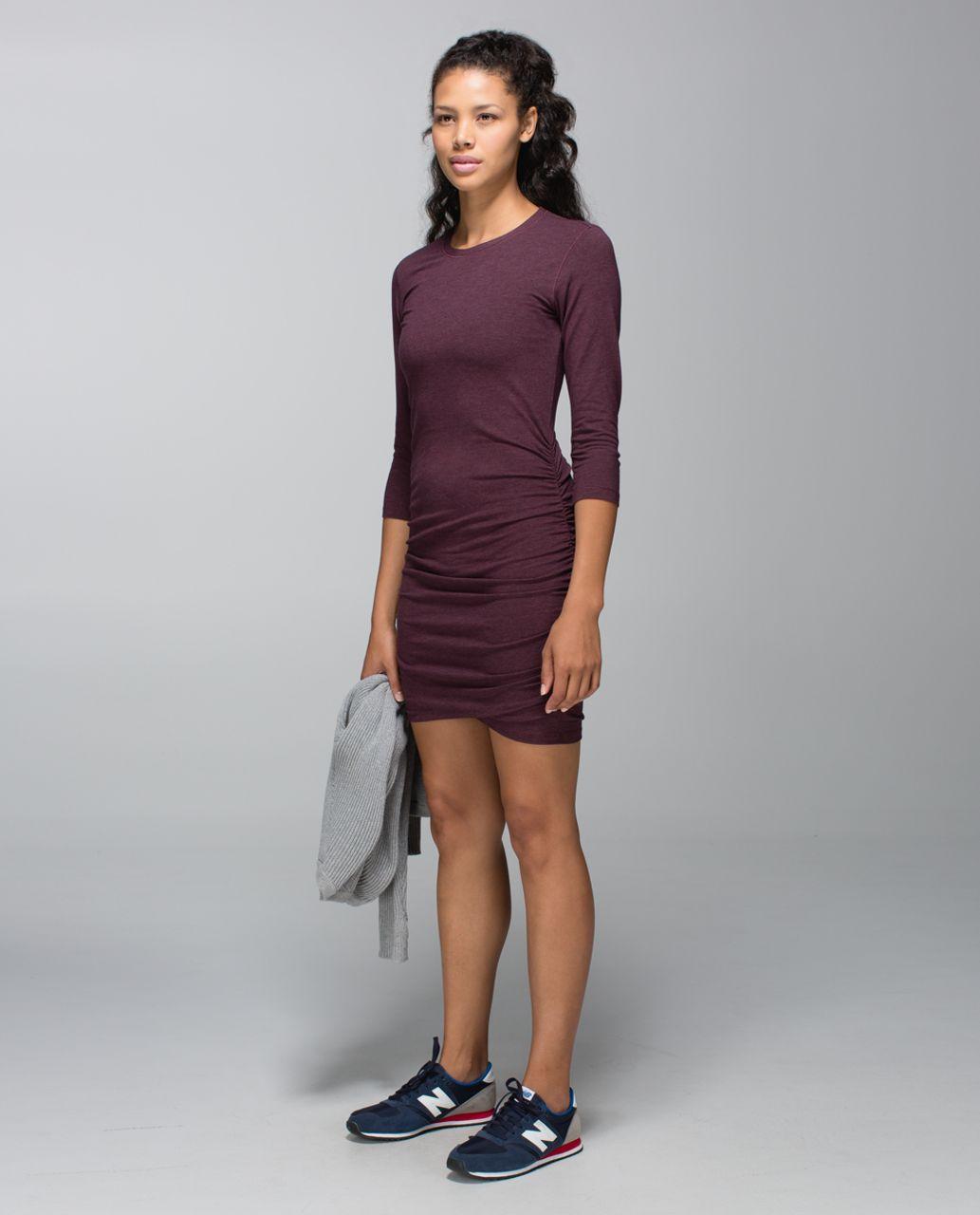Lululemon Anytime Dress - Heathered Bordeaux Drama