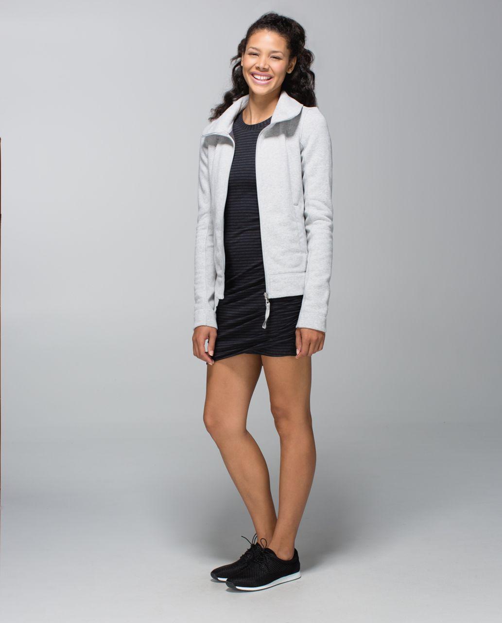 Lululemon Anytime Dress - Classic Stripe Heatheredblack Black