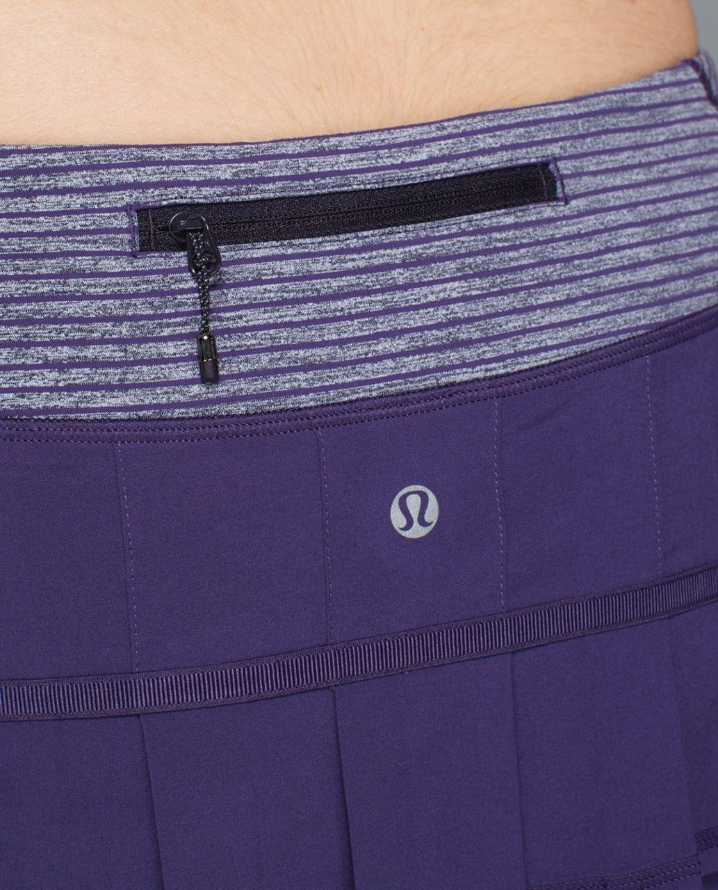 Lululemon Run:  Pace Setter Skirt *4-way Stretch (Regular) - Going Grape / Hyper Stripe Heathered Black Grape Going Grape