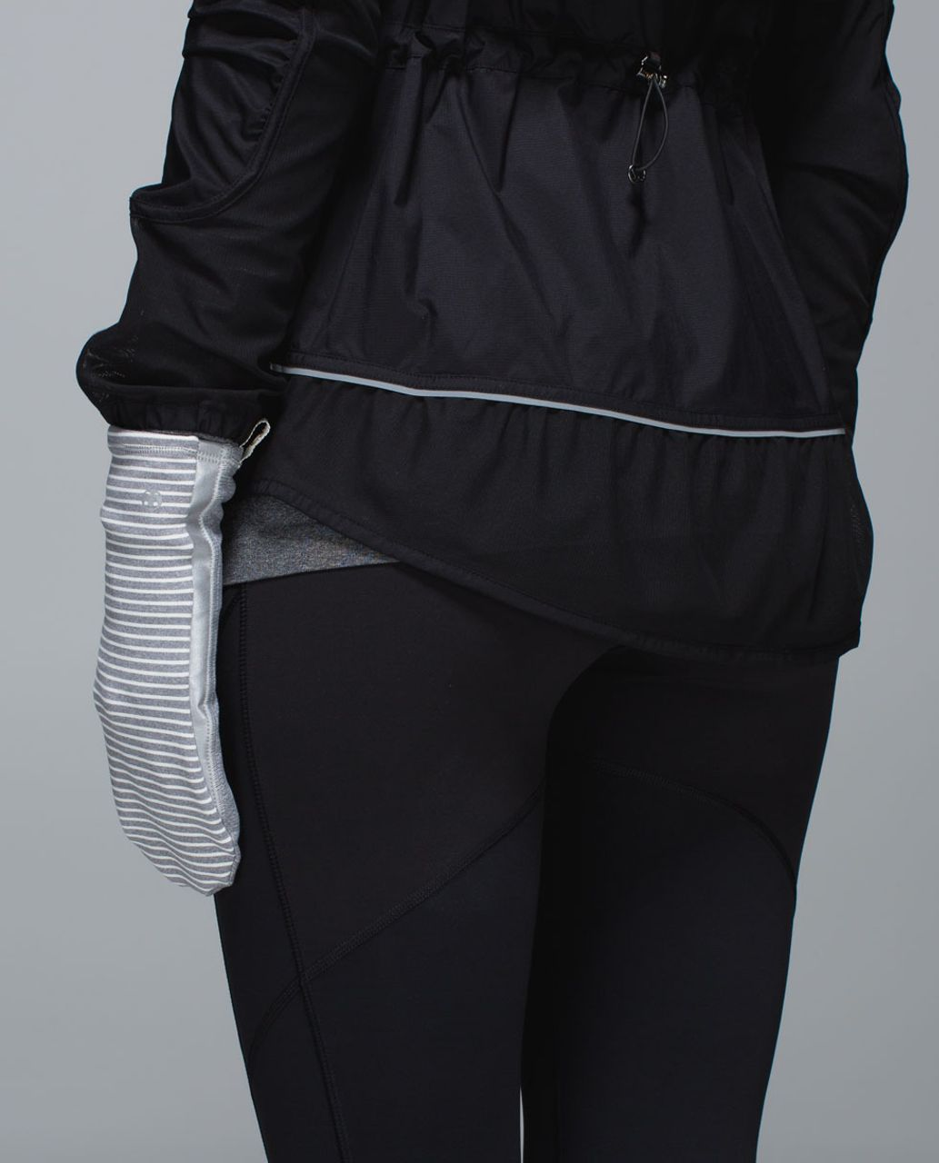 Lululemon Run With Me Mittens - Hyper Stripe Heathered Slate Ghost / Heathered Slate / Heathered Slate