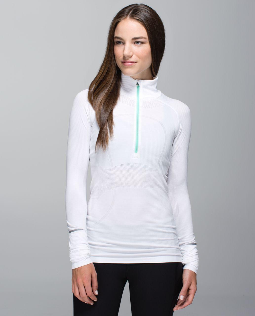 Lululemon Run:  Swiftly Tech 1/2 Zip - Heathered White