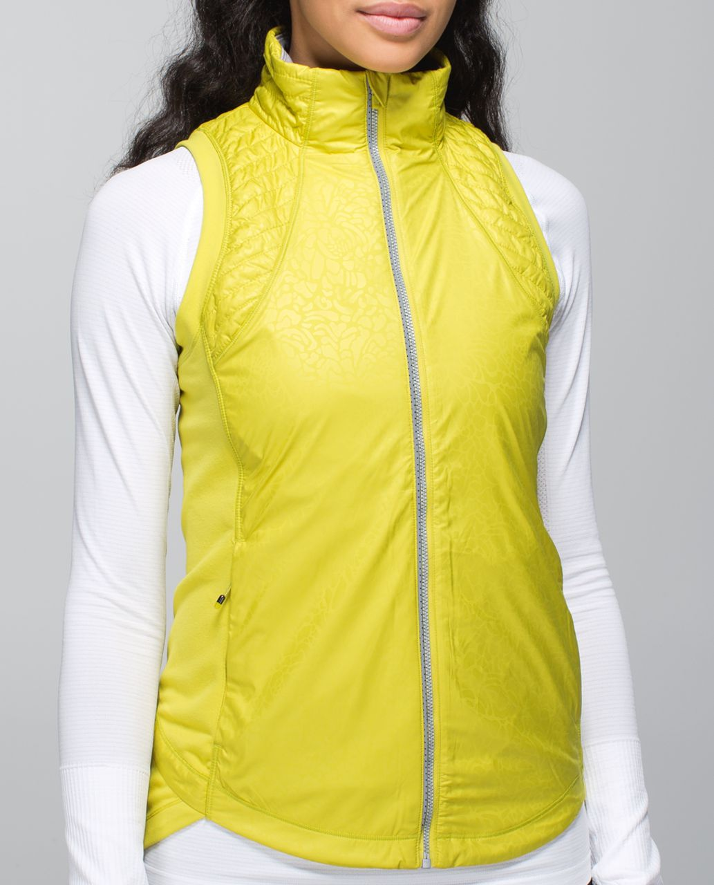 Lululemon Rebel Runner Vest - Petal Camo Embossed Almost Pear / Heathered Slate / Almost Pear