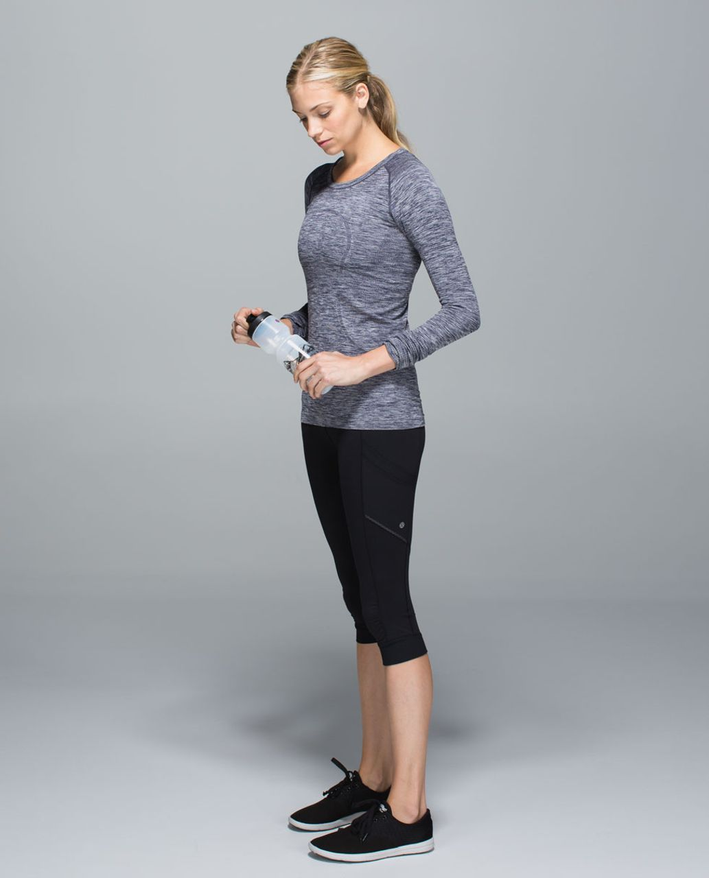 Lululemon Run:  Swiftly Tech Long Sleeve Crew - Space Dye Heathered Going Grape