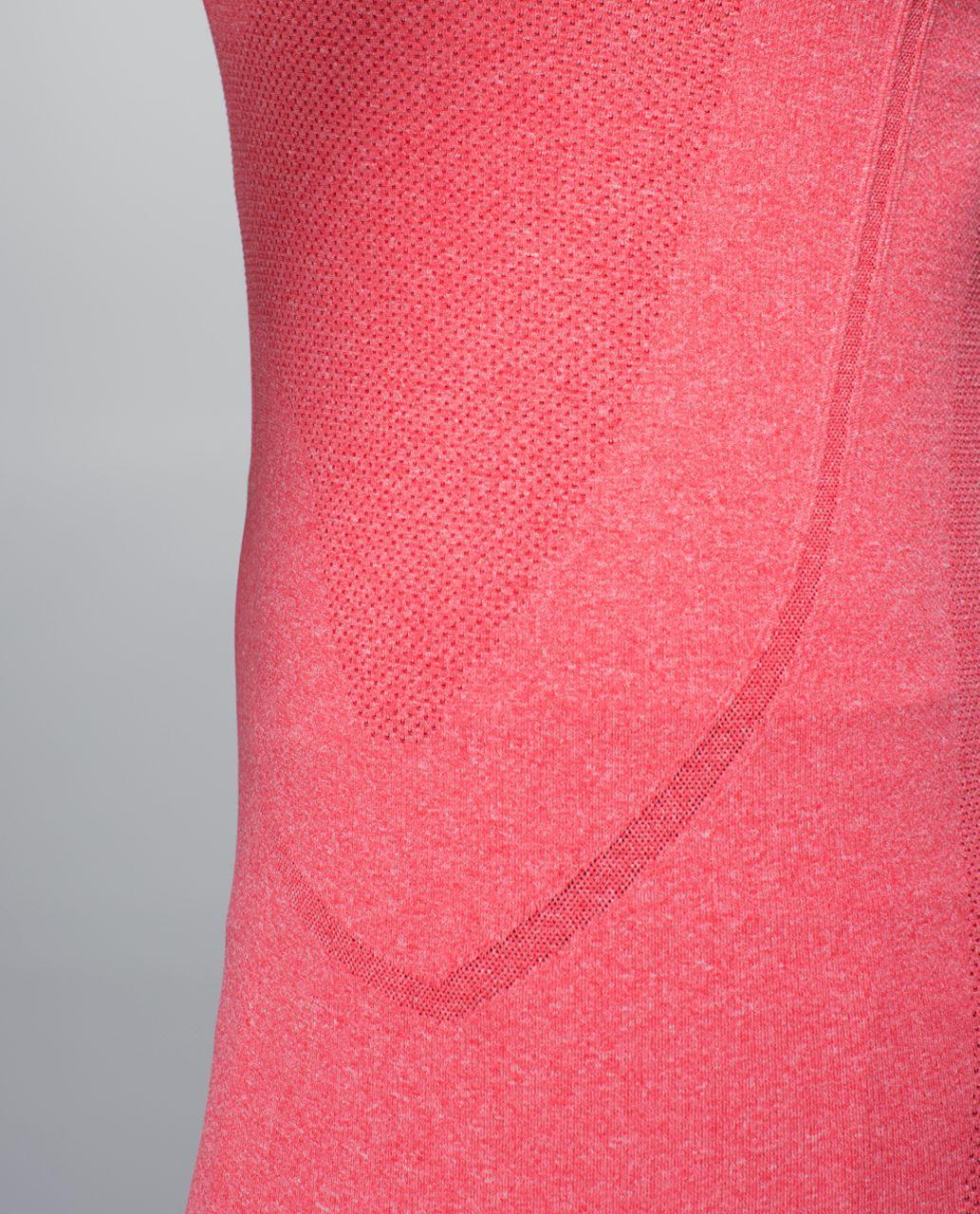 Lululemon Run:  Swiftly Tech Short Sleeve Crew - Heathered Rad Red