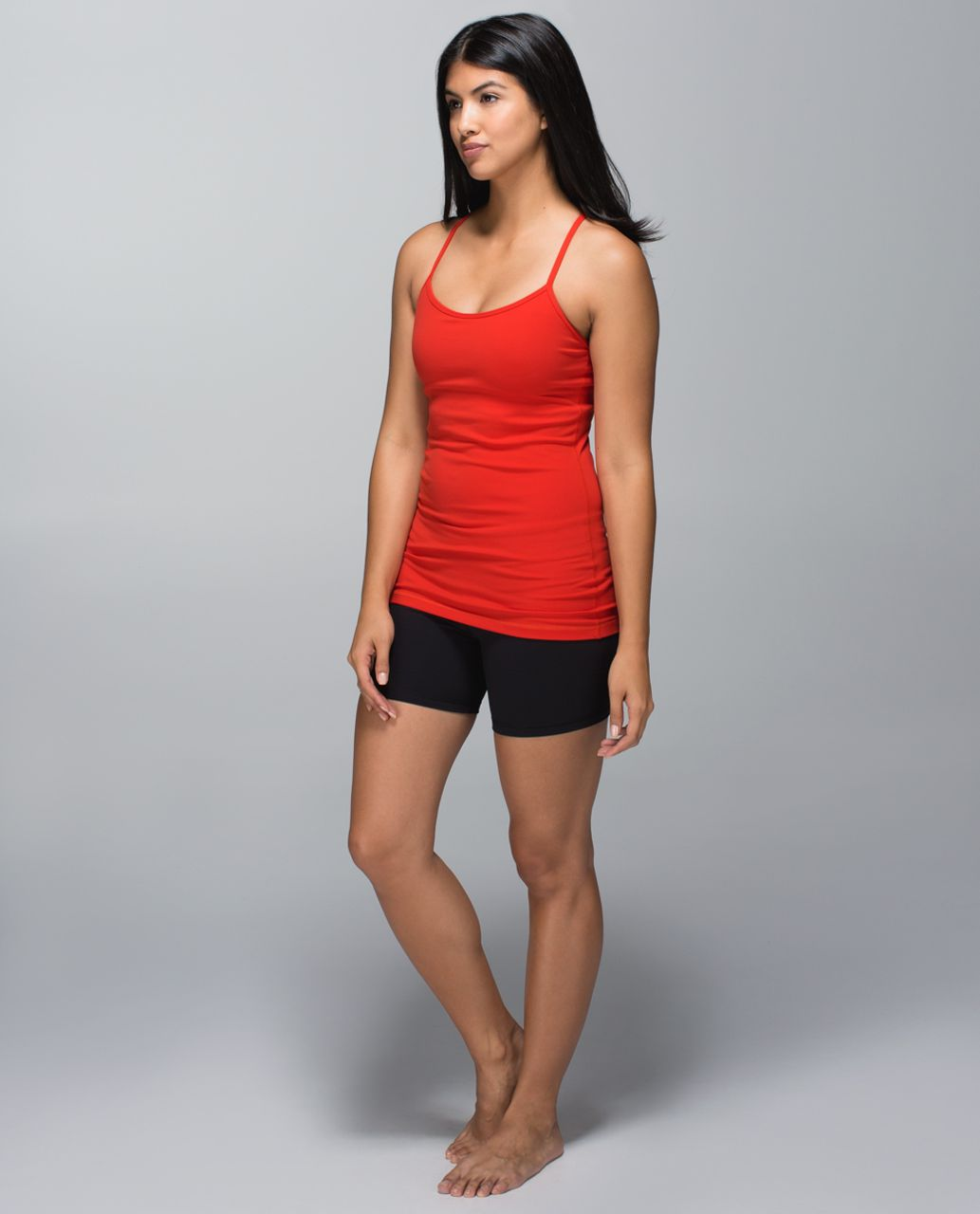 Lululemon Power Y Tank *Luon - Flaming Tomato