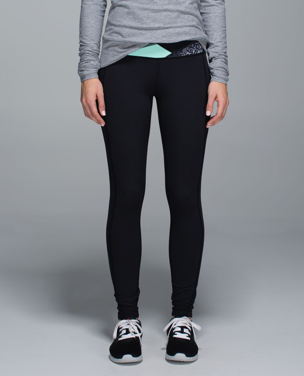 Lululemon Speed Tight ll *Full-On Luxtreme (Brushed) - Black / Fa14 Quilt 29