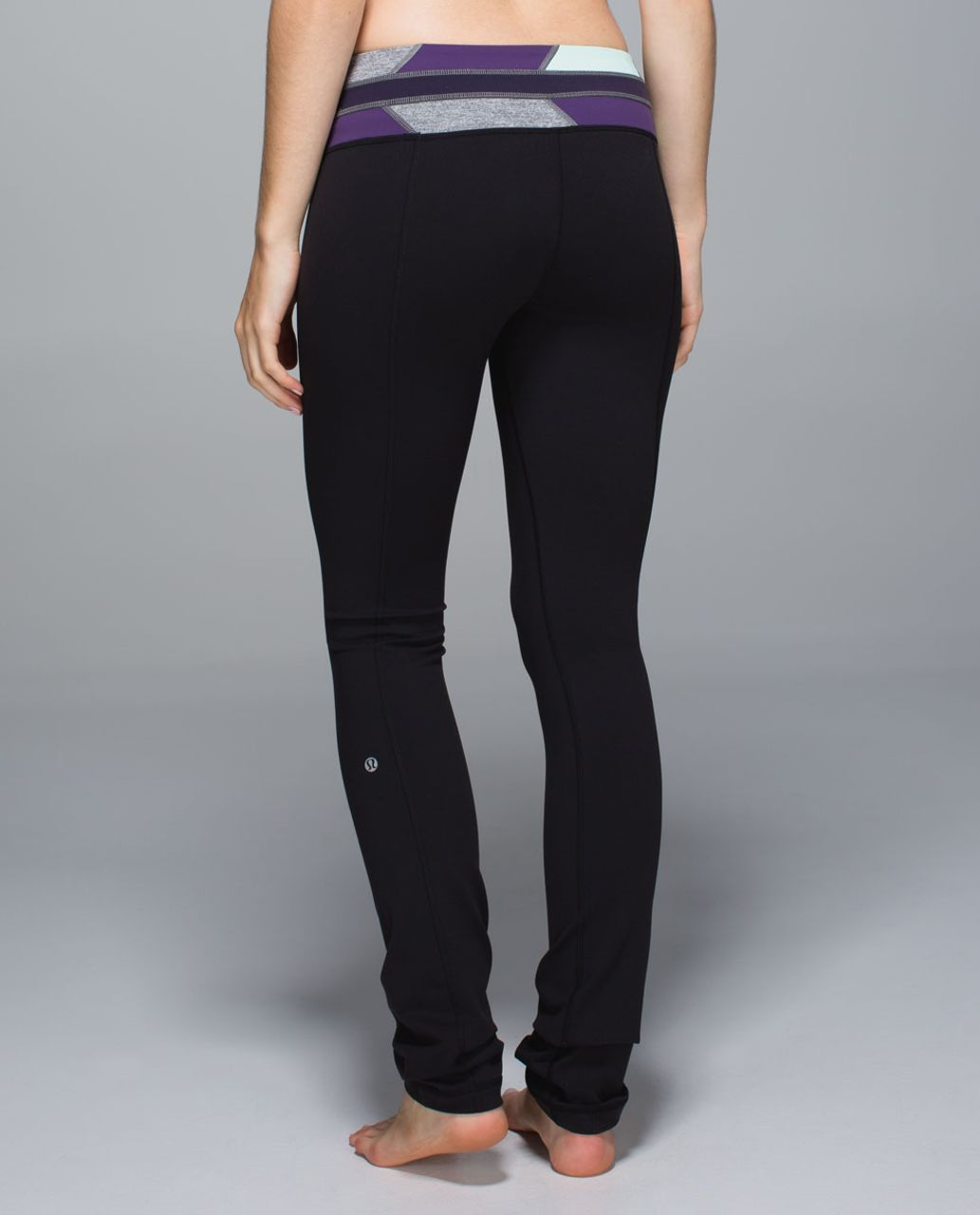 Lululemon Skinny Groove Pant *Full-On Luon - Black / Fa14 Quilt 13