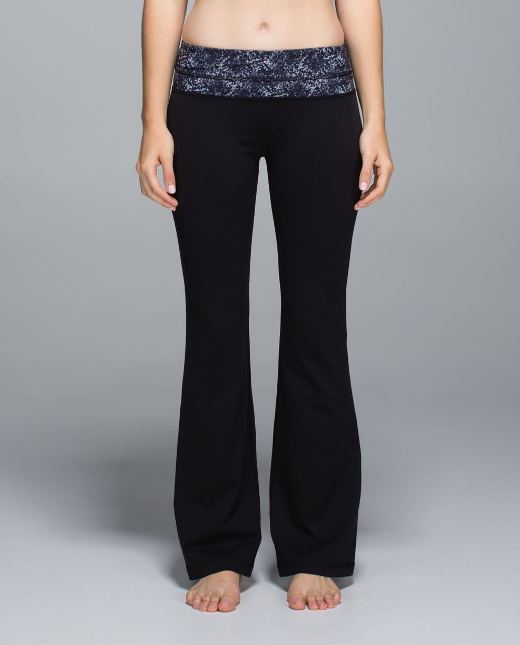 Lululemon Groove Pant *Full-On Luon (Regular) - Black / Rocky Road Sand Dune Toothpaste