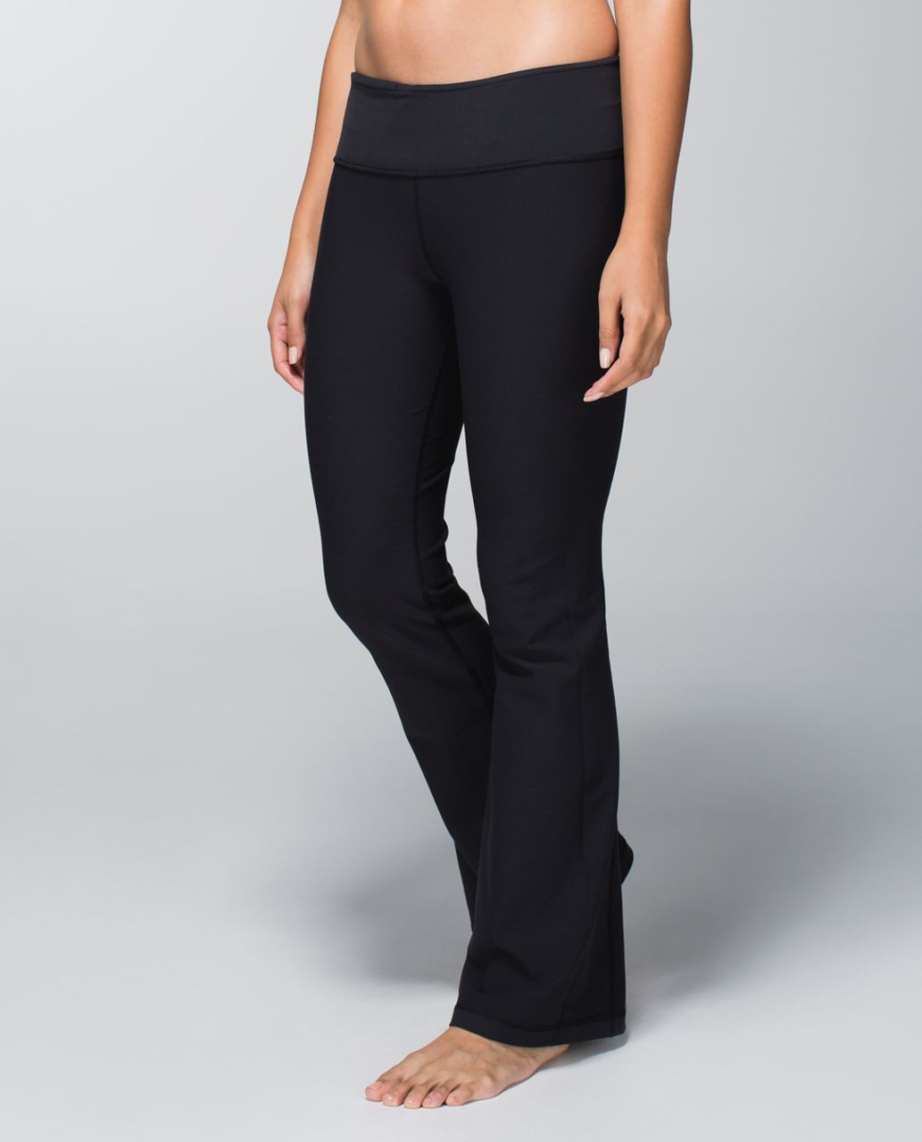 Lululemon Groove Pant *Full-On Luon (Tall) - Black / Fa14 Quilt 9