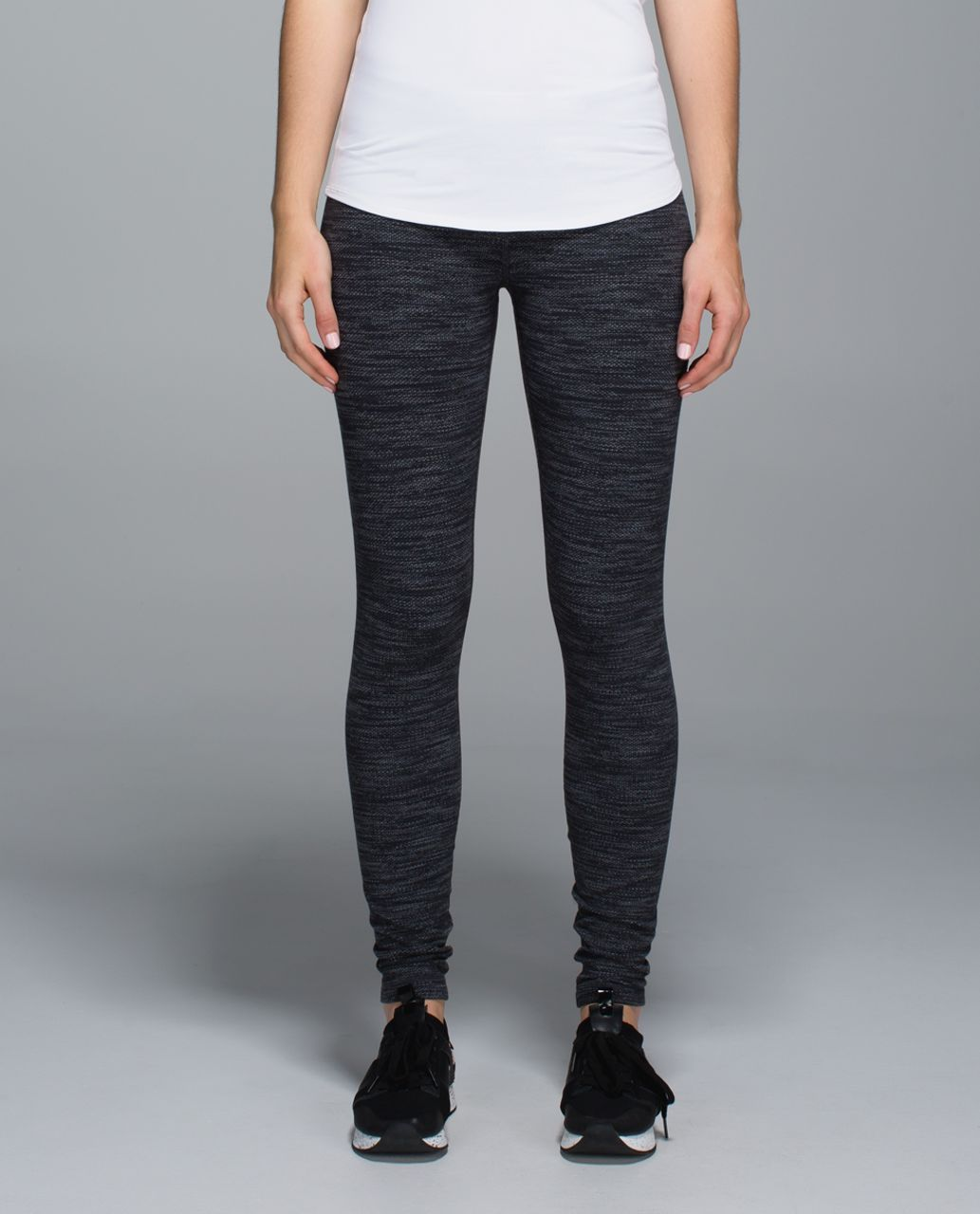 Lululemon Wunder Under Pant - Diamond Jacquard Space Dye Black Deep Coal