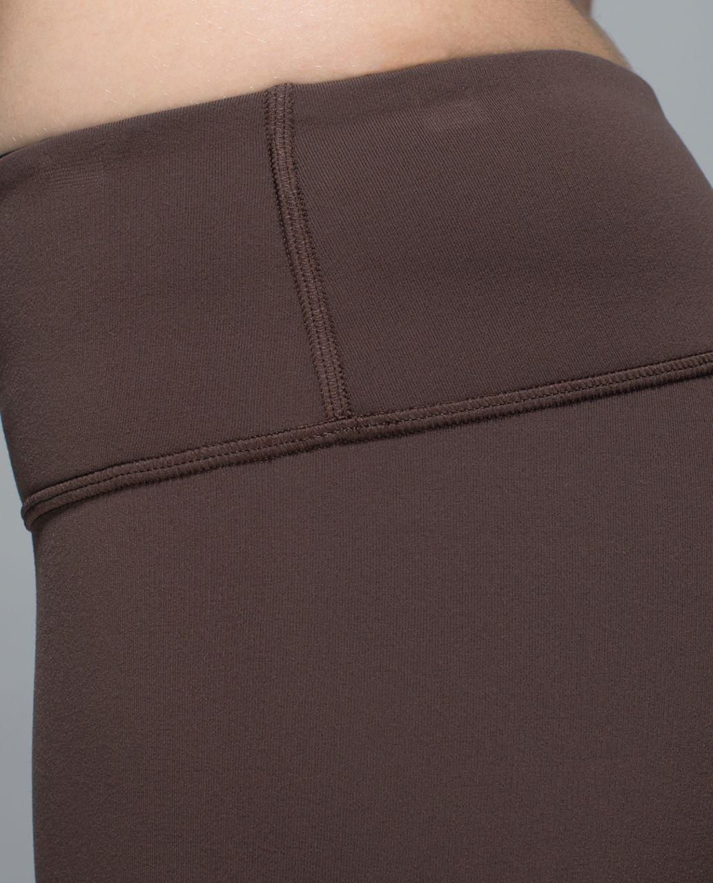 Lululemon Wunder Under Pant (Reversible) - Bark Chocolate / Black