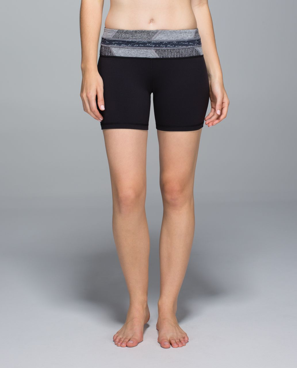 Lululemon Groove Short *Full-On Luon (Regular) - Black / Fa14 Quilt 12