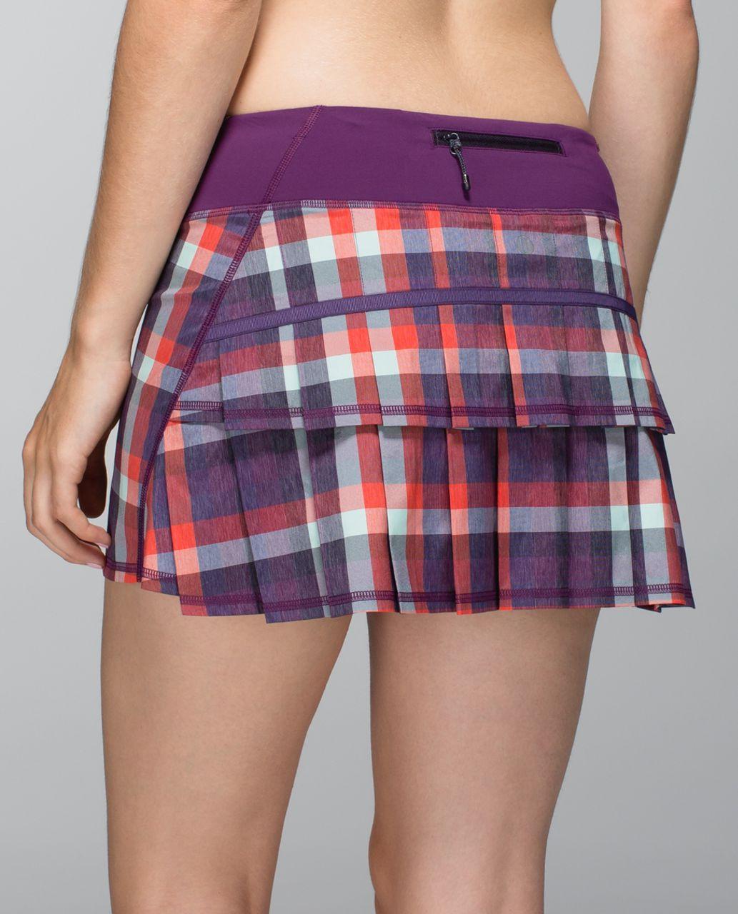 Lululemon Run:  Pace Setter Skirt *2-way Stretch (Regular) - Wheezy Check Multi Heathered Berry Yum Yum / Berry Yum Yum