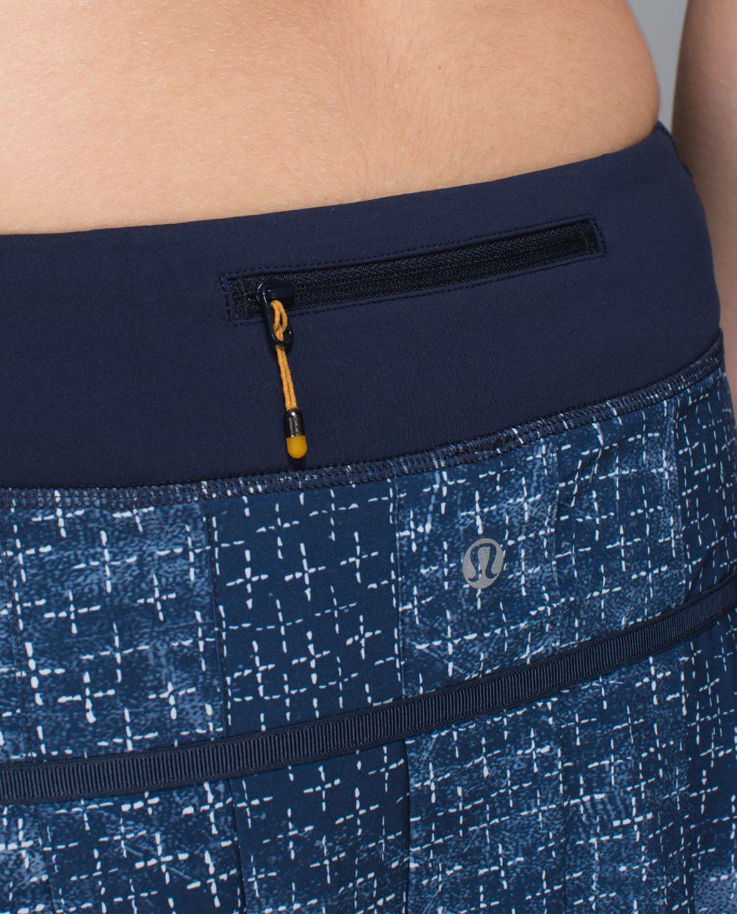Lululemon Run:  Pace Setter Skirt *4-way Stretch (Tall) - Exploded Sashiko Cross Inkwell Ghost / Inkwell