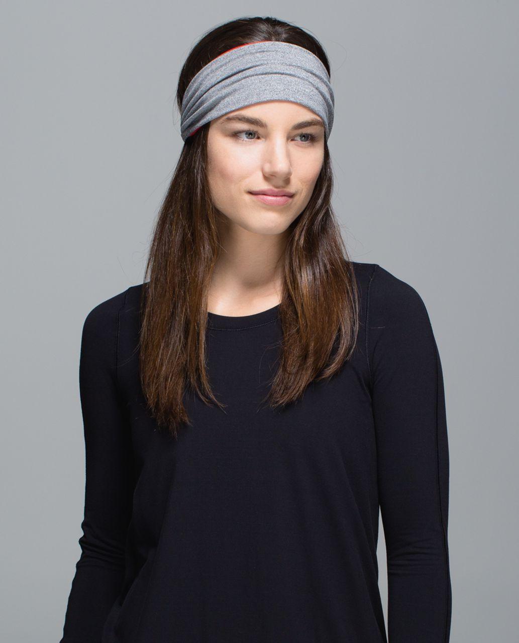 Lululemon Bang Buster Headband *Reversible - Heathered Slate / Flaming Tomato