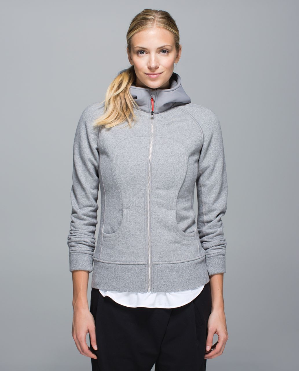 Lululemon Scuba Hoodie II *Reflective - Heathered Speckled Medium Grey / Ambient Grey / Silver