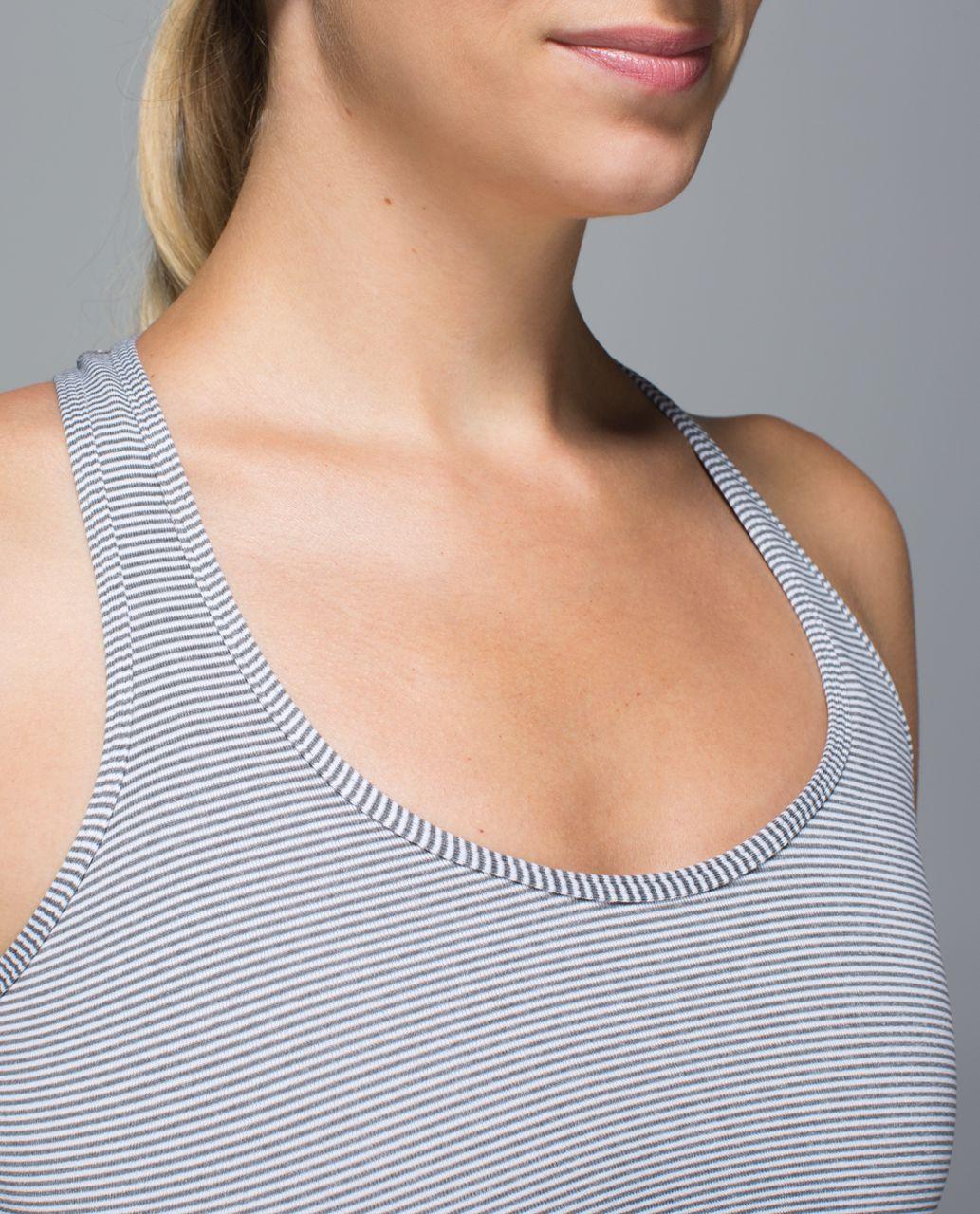 Lululemon Cool Racerback - Tonka Stripe Heathered Slate White