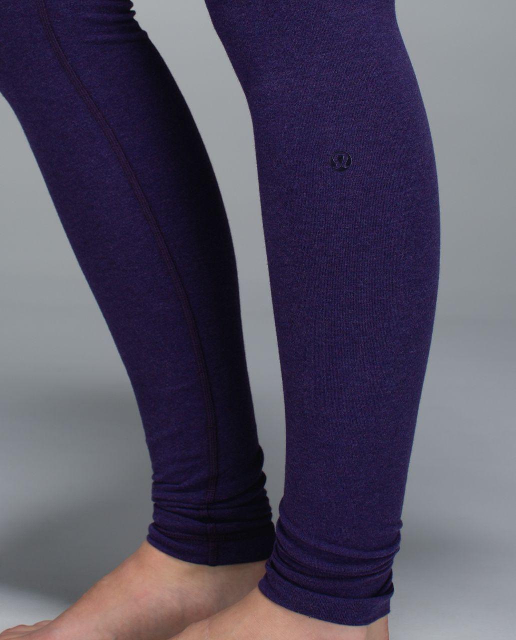 Lululemon Wunder Under Pant *Cotton (Roll Down) - Heathered Black Grape