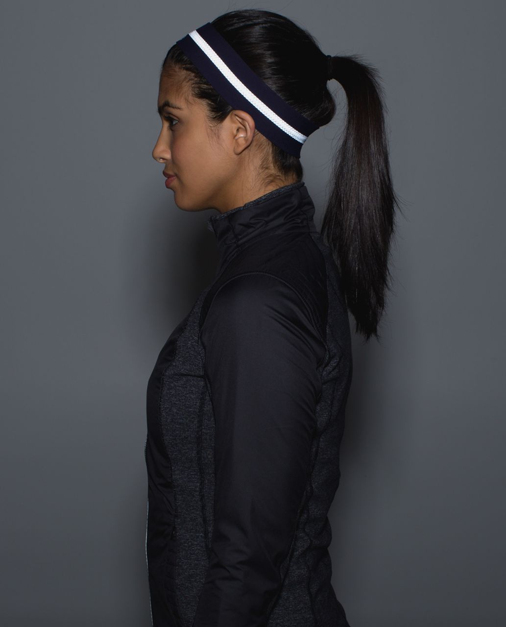 Lululemon Fly Away Tamer Headband *Reflective - Black Grape