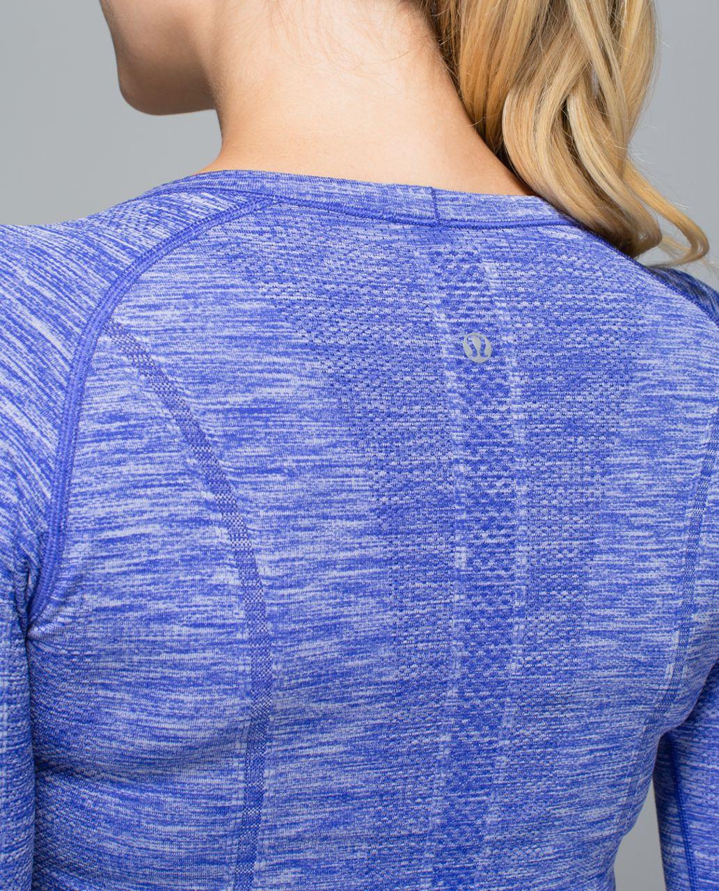 Lululemon Run:  Swiftly Tech Long Sleeve Crew - Space Dye Heathered Pigment Blue