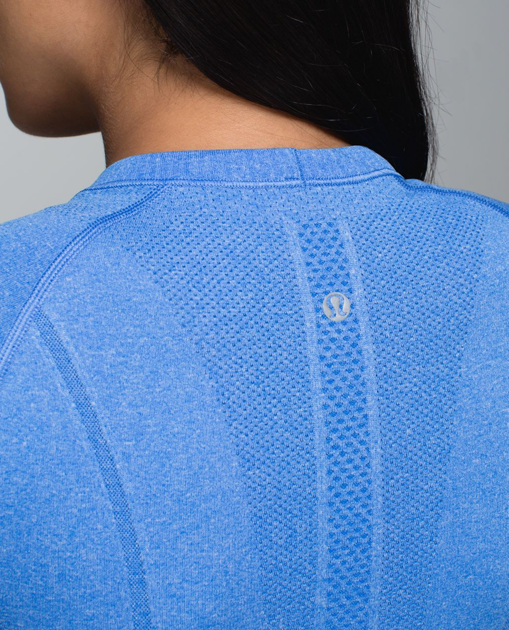Lululemon Run:  Swiftly Tech Short Sleeve Crew - Heathered Pipe Dream Blue