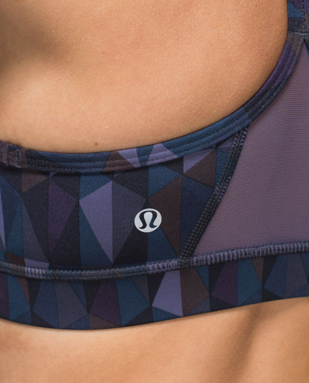 Lululemon Flow Y Bra IV - Stained Glass Love Nightfall Black