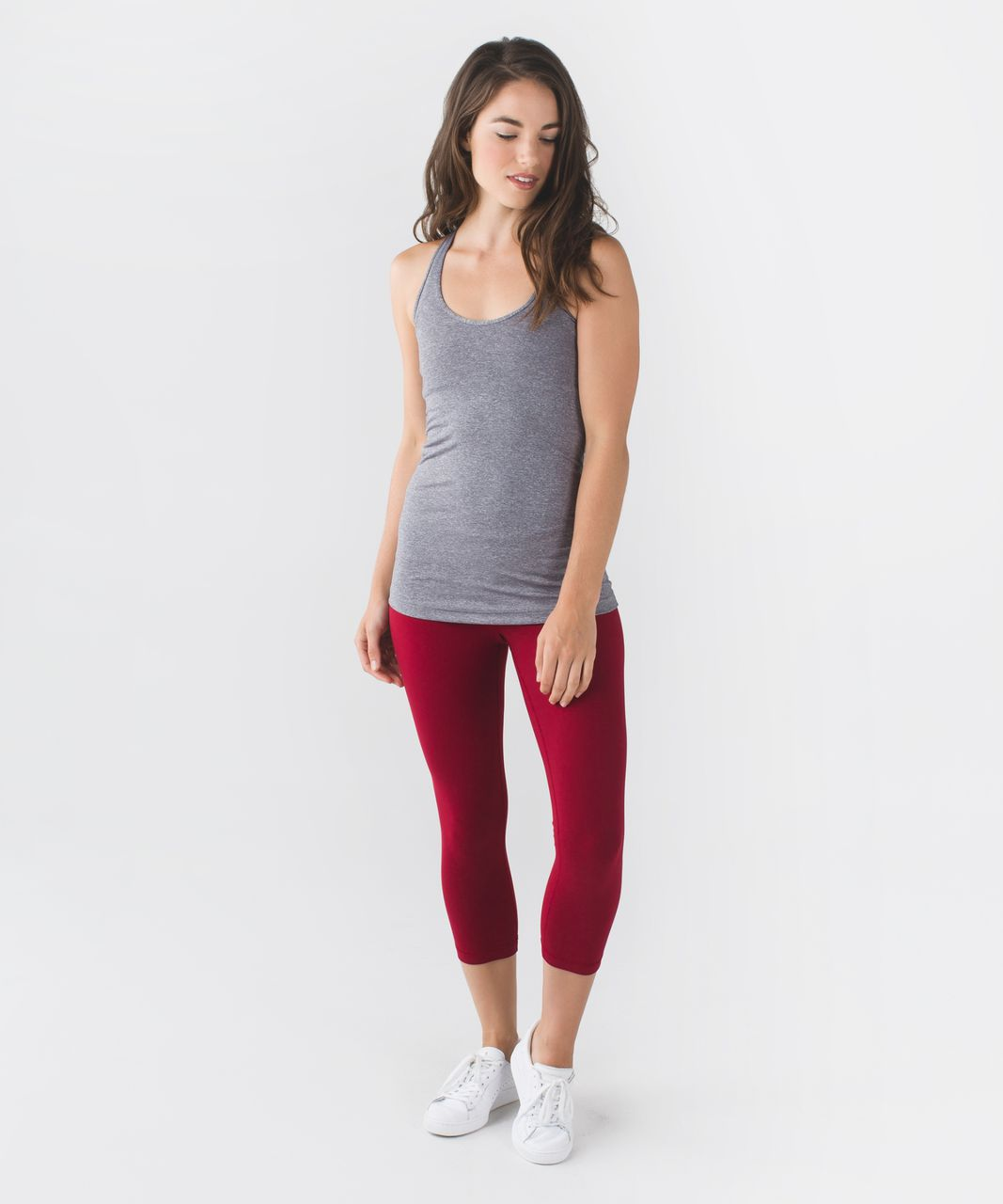 Lululemon Wunder Under Crop II *Full-On Luon - Deepest Cranberry / Boom Juice