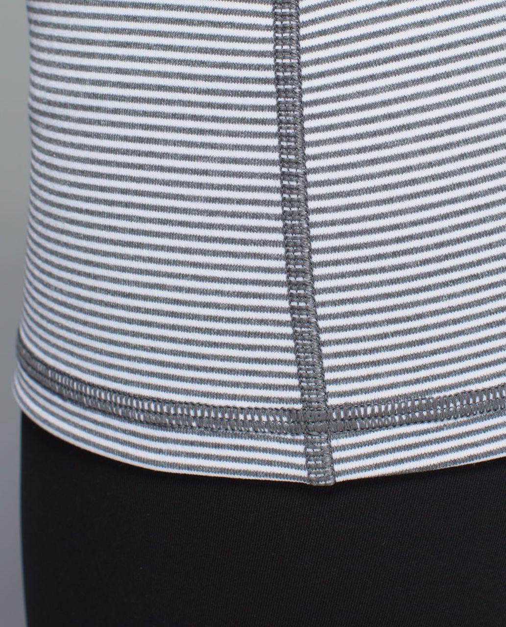 Lululemon Power Y Tank *Luon - Tonka Stripe Heathered Slate White