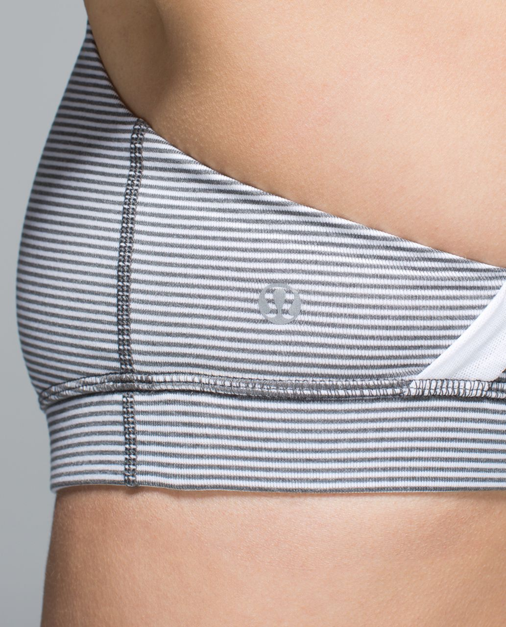 Lululemon 50 Rep Bra - Tonka Stripe Heathered Slate White