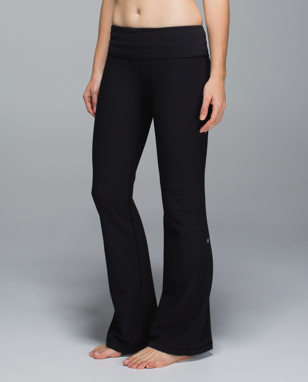 Lululemon Groove Pant *Full-On Luon (Regular) - Black / Boom Juice