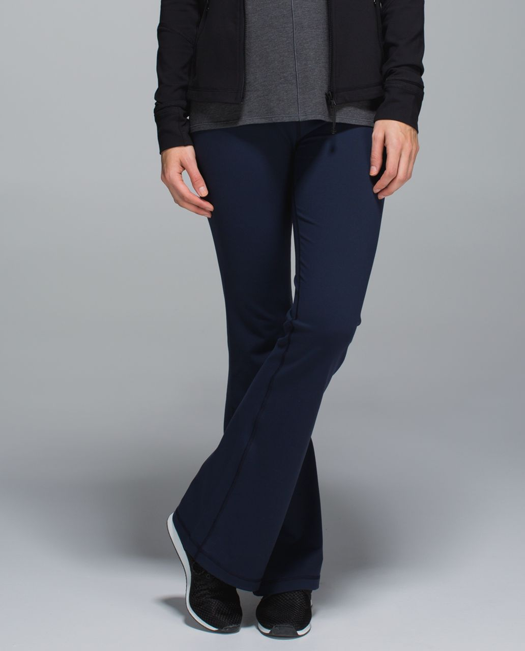 Lululemon Groove Pant *Full-On Luon (Regular) - Inkwell / Capilano Stripe Inkwell Black / Black