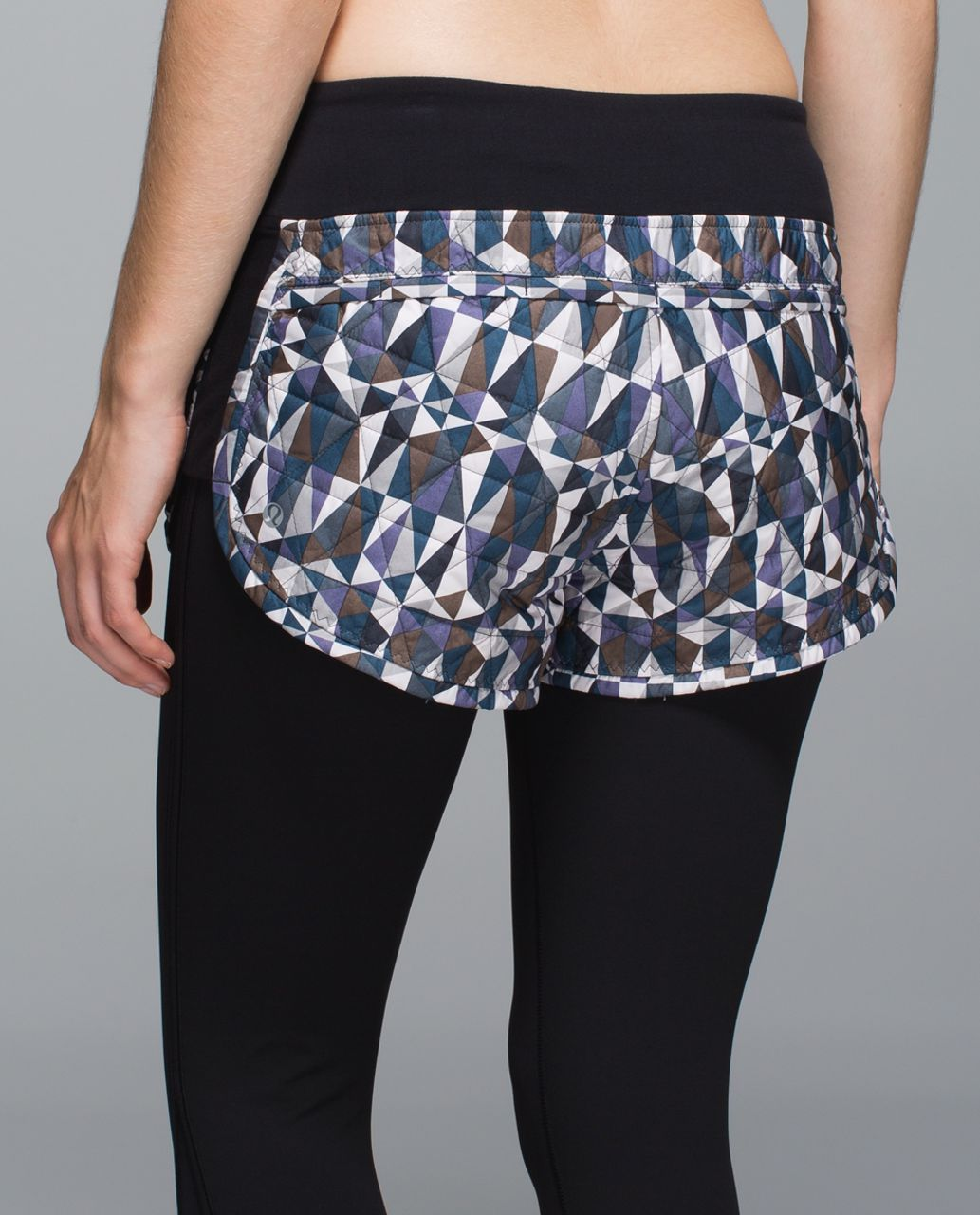 Lululemon Hot Cheeks Short - Stained Glass Love Neutral Blush Black
