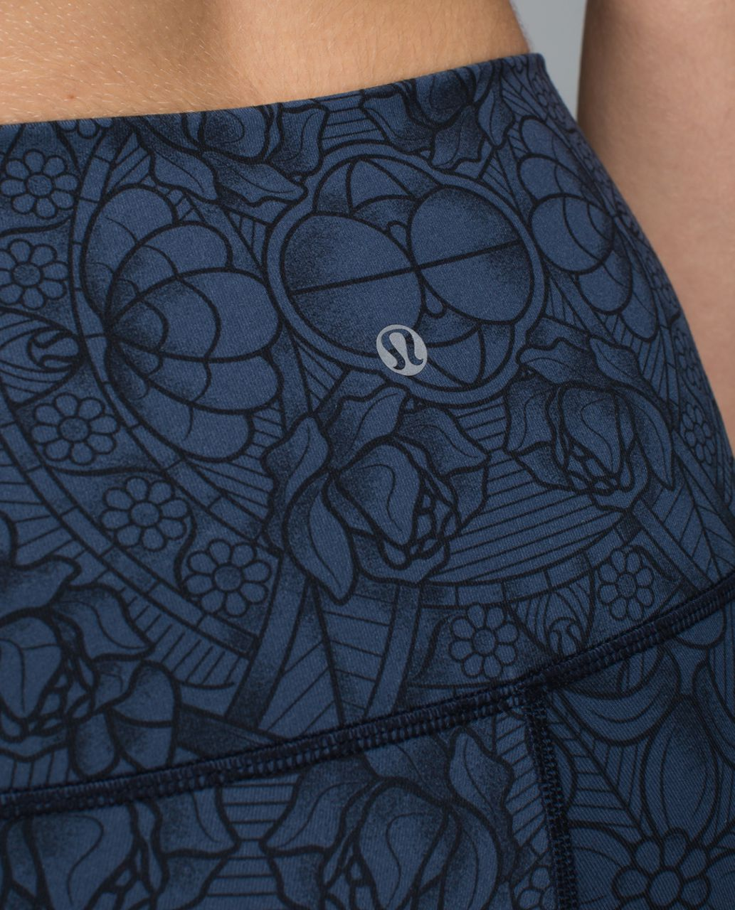 Lululemon Wunder Under Crop II *Full-On Luon (Roll Down) - Prisma Inkwell Black