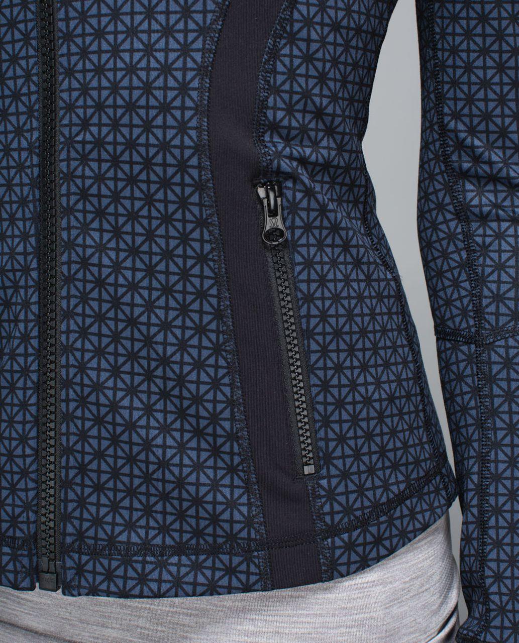 Lululemon Define Jacket - Tri Geo Printed Inkwell Black / Black