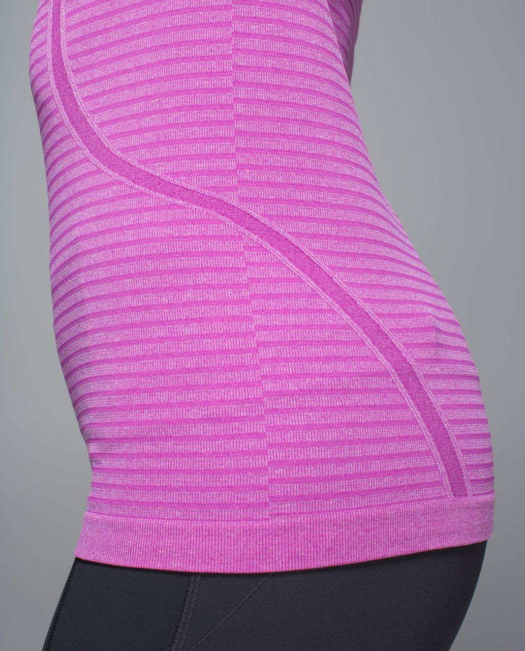 Lululemon Run:  Swiftly Tech Long Sleeve Crew - Rugby Stripe Tonal Heathered Ultra Violet