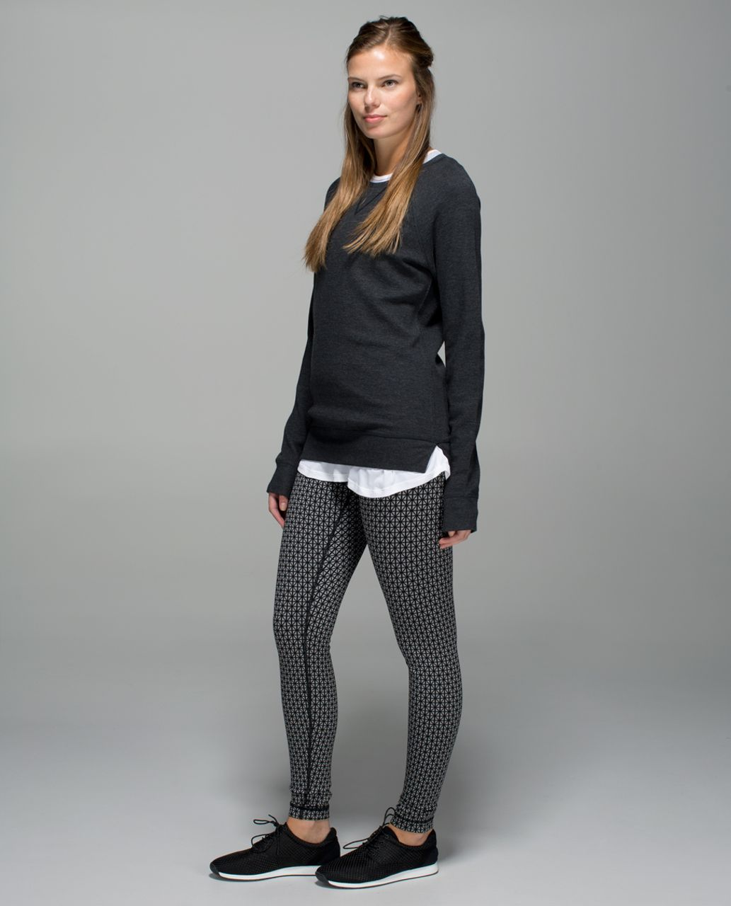 Lululemon Wunder Under Pant *Full-On Luon - Tri Geo Silver Spoon Black