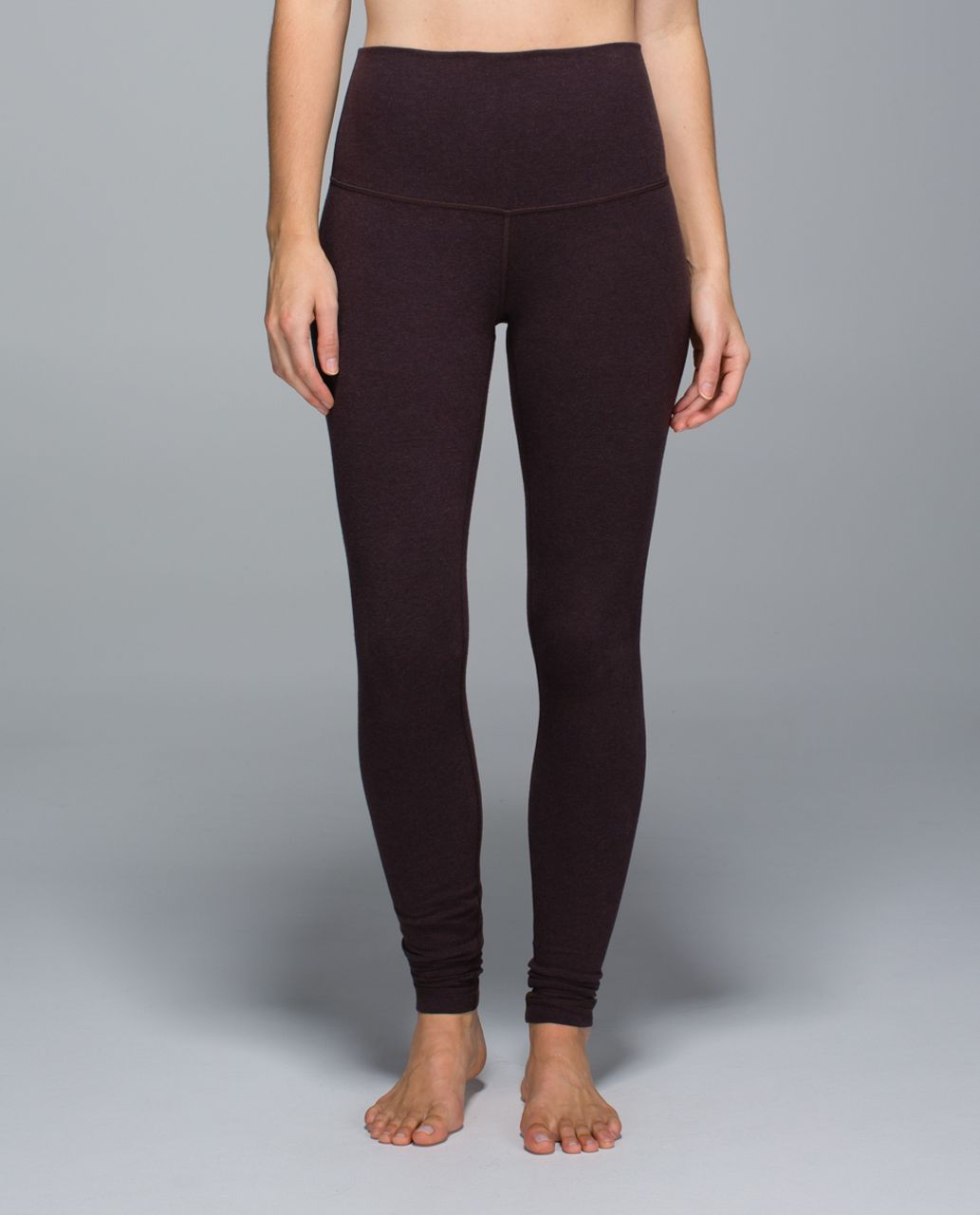 Lululemon Wunder Under Pant *Cotton (Roll Down) - Heathered Rich Earth