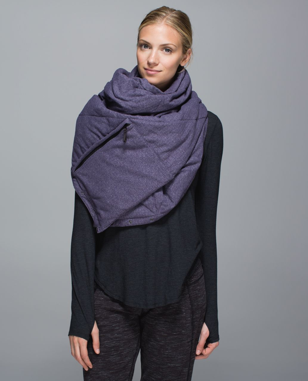 Lululemon Fluffed Up Scarf - Stained Glass Love Nightfall Black